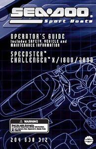 sea doo owners manual book 2004 speedster challenger 1800 rh ebay com 2005 Sea-Doo 200 Speedster Sea-Doo Speedster 200 2004