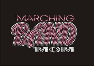 Details about Marching Band Mom Custom Bling Rhinestone TShirt