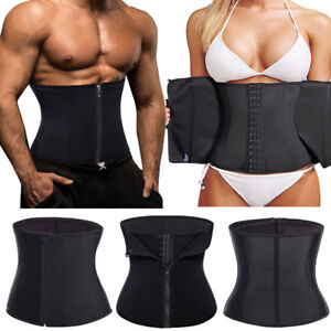 Men-Women-Waist-Trainer-Belt-Tummy-Slimming-Body-Shaper-Cincher-Control-Fajas-NY