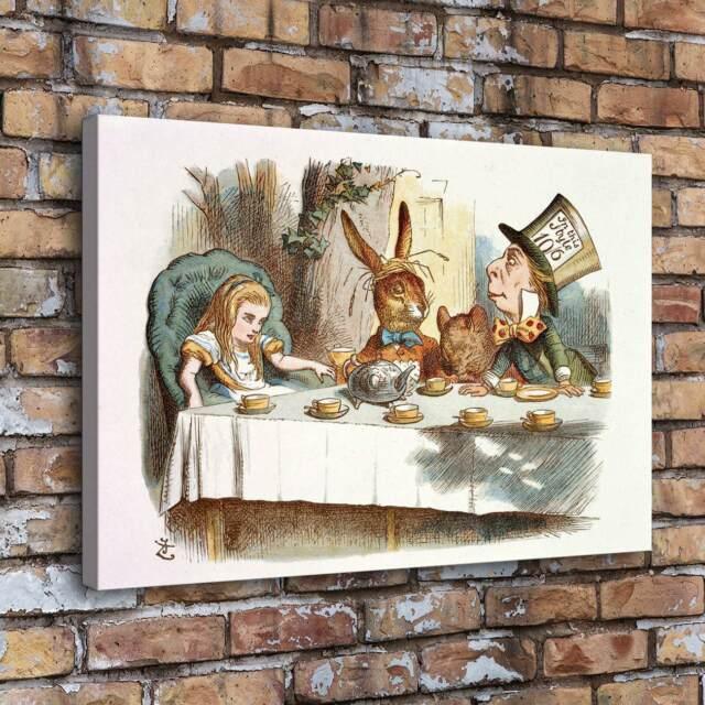 Home Decor Alice In Wonderland Room Hd Canvas Print Picture Wall Art Painting Garden Devidesert Com