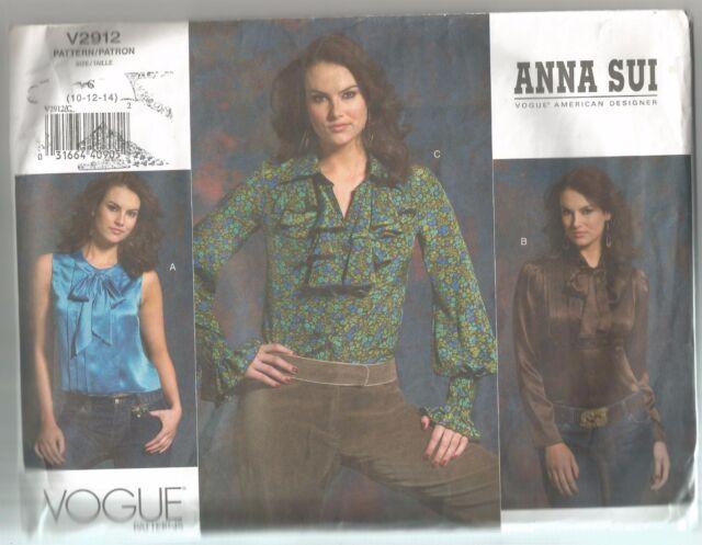 Vogue DESIGNER Sewing Pattern 2912 Ungaro Jacket Blouse Skirt Size ...