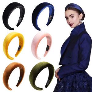 Velvet-Thick-Sponge-Hair-Hoop-5cm-Wide-Flannel-Headband-Hair-Accessories-Autumn
