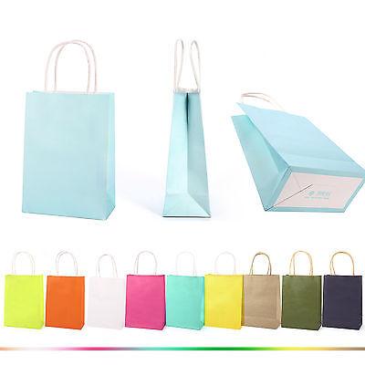 5/10x Geburtstag Geschenktüte Papier Tasche Schachtel mit Griffen 8 Farben