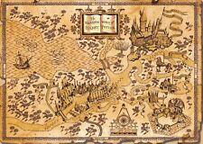 Harry Potter World Map A3 Poster Print Amk1459 | eBay