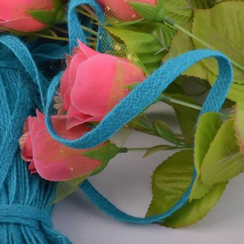 5M Jute Burlap Braided String Hessian Ribbon Rope Tape Wedding Party Craft Decor