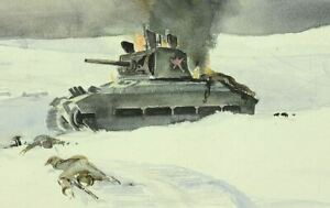 WW-2-Orel-Russland-Winter-1942-43-destroed-soviet-tank-Panzer-Kriegs-Berichter