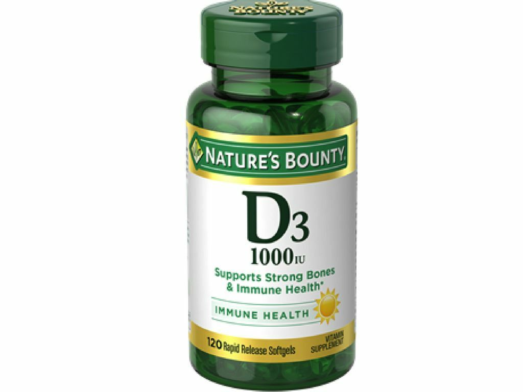 Nature's Bounty Vitamin D3 1000 IU Immune Health, 120 Softgels 1