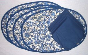 White Quilted Placemats Delft Fl