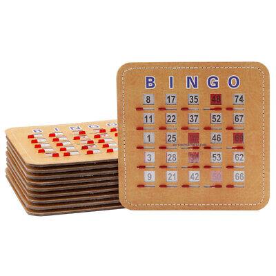 Stitched Reusable Shutter Slide Bingo Cards w//Shutter Clear Slider 50-Pack