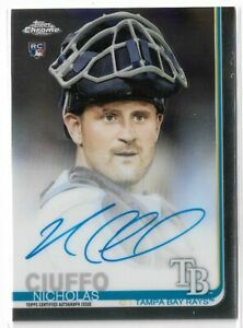 2019-Topps-Chrome-Baseball-Rookie-Autograph-Nicholas-Ciuffo-Tampa-Bay-Rays
