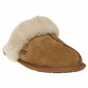 a4ce2072779 Details about New WOMENS UGG® TAN SCUFFETTE SUEDE SLIPPERS