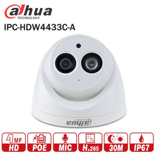 DaHua IPC-HDW4433C-A 4MP CCTV POE Network IR Mini Dome IP Camera Starnight MIC