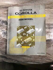 2009 Toyota Corolla Electrical Wiring Diagram Shop Repair Manual Oem Ewd Water Ebay