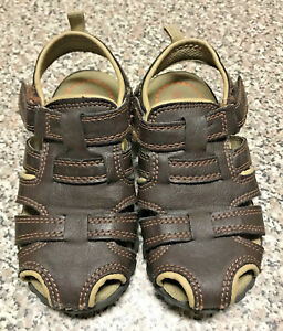 5807f9d62d6 Image is loading Carters-Boys-youth-child-039-s-sandals-brown-