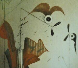 Josef-WERNER-1945-RAR-E-A-Farbradierung-DIE-RADLER-Rest-unleserlich