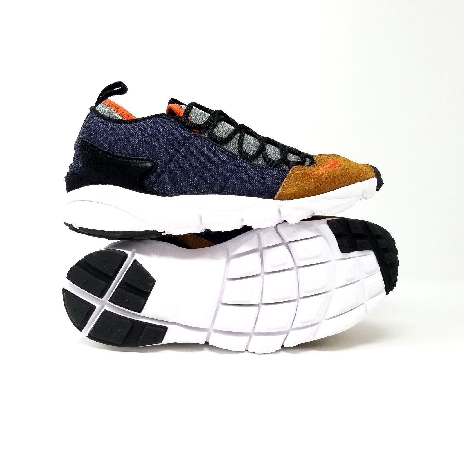 Nike Air Footscape NM Mens Running Shoes Obsidian Team Orange 852629-401