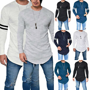 Mens-Long-Sleeve-Casual-T-Shirts-Slim-Fit-Pullover-Henley-Top-Loose-Basic-Blouse
