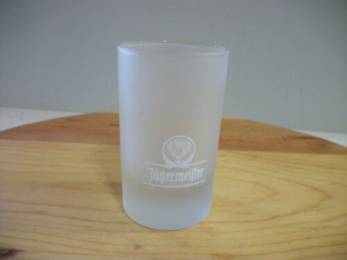 JAGERMEISTER SHOT GLASS Frosted Glass Barware 2cl and 4 cl ARC