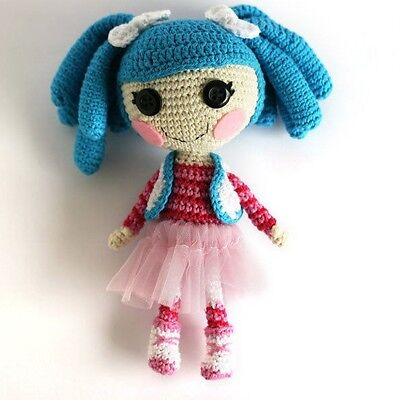 Amigurumi Crochet Lalaloopsy Doll Blue Model Free Pattern ... | 400x400
