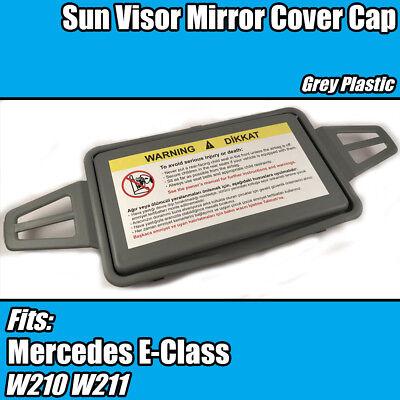 Mercedes E Class W210 W211 Sunvisor Sunshade Mirror Cover Cap Gray L or R Side