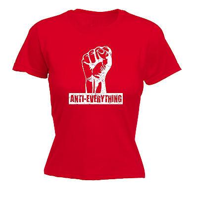 Fashion Style Anti Tutto Fist Da Donna T-shirt Rebel Millitant Scherzo Divertente Regalo Di Compleanno-mostra Il Titolo Originale