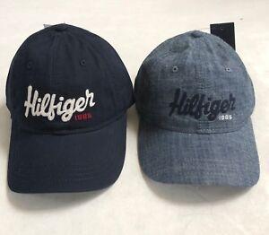 2031e68b5eb NWT Tommy Hilfiger Logo Hat Ball Baseball Cap Flag Denim Blue Mailed ...