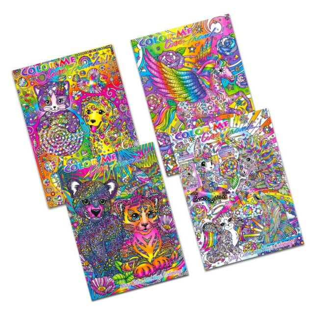 Lisa Frank Color Me Adult Coloring Book Set Of 4 Art Therapy Retro 2016 For  Sale Online EBay