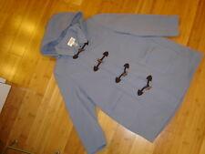 Talbots lt blue duffle wool coat hood toggles lined sz. 18