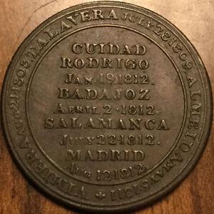 1812-LOWER-CANADA-HALF-PENNY-TOKEN-WELLINGTON-SALAMANCA-MADRID-REEDED-DIAGONALLY