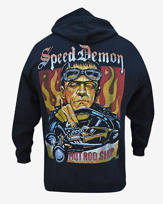 HAUNT ROD ZIP HOODIE BLACK SMALL-2XLARGE LIMITED RELEASE NWT Lowbrow Art Co