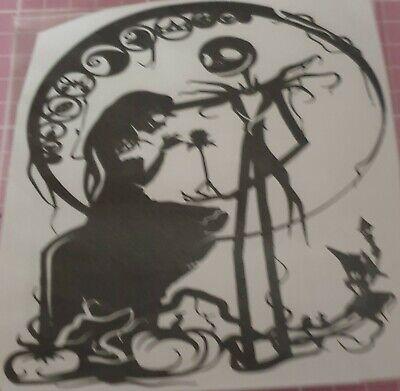 Jack and Sally Nightmare Before Christmas Car Window Vinyl Decal Sticker 4x5.25