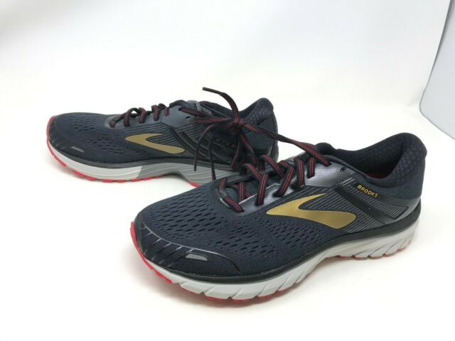 c8d6ad06814c6 Mens Brooks (1102711D068)Adrenaline GTS 18 Black/Red/Gold Running Shoes  (421L-M)