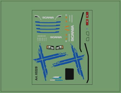 H0//1:87 DIS0322B Schwedenkreuz Decal für Scania Zugmaschienen CS//CR