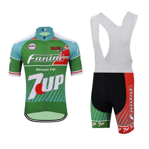 7UP Fanini Team Retro Cycling Jersey Bib Short Set