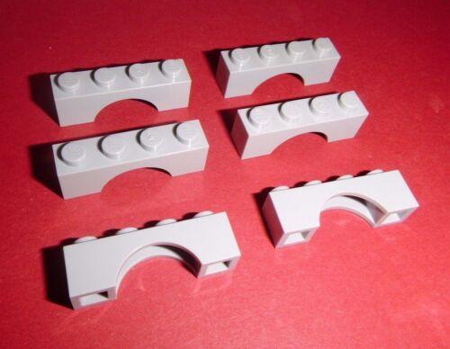 6 Rundbögen 1x4x1 Lego in hellgrau aus 79003 9472 4757 3817 3659
