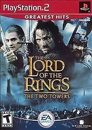 Lord of the Rings The Two Towers Greatest Hits Sony PlayStation 2 2004 No Manual