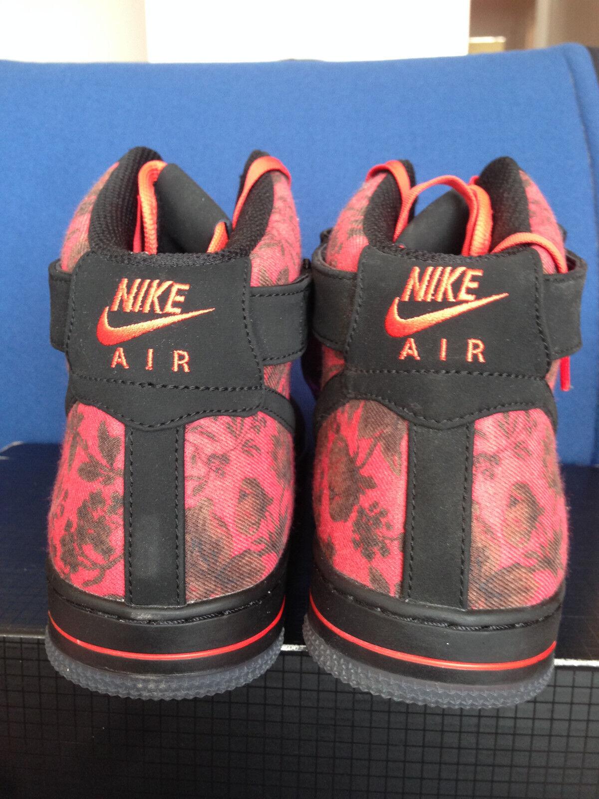 nike air force hohe 1 qs downtown - hohe force floral kd rosengarten schwarz - rot - lillard 14. 742a39