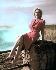 "MARILYN MONROE NIAGARA 1953 ACTRESS HOLLYWOOD 8x10"" HAND COLOR TINTED PHOTO"
