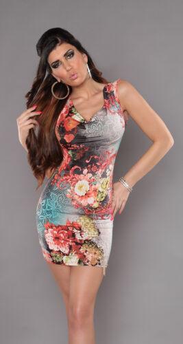 Miniabito Donna Vestitino Vestito Abito ISF B431 Tg Unica veste s//m