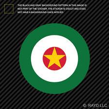 """4"""" Suriname Air Force Roundel Sticker Die Cut Decal LUMA Surinamese SUR SR"""