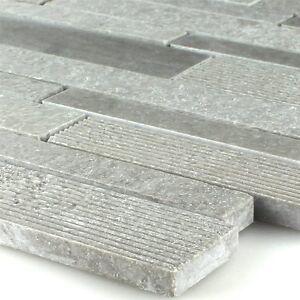 marmor mosaik fliesen st bchen gefr st poliert grau 4250600550061 ebay. Black Bedroom Furniture Sets. Home Design Ideas