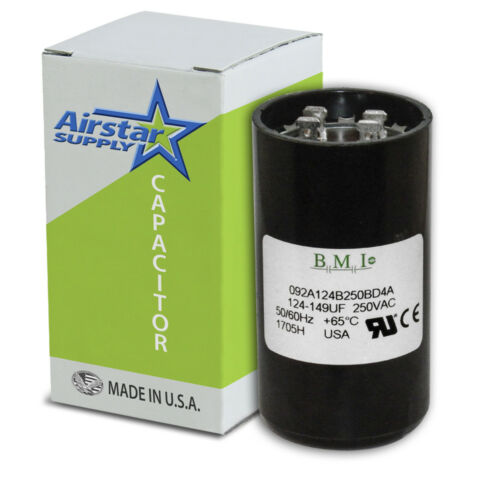 USA 124-149 MFD uF Electric Motor Start Capacitor 220 250V HVAC 250 vac v volt