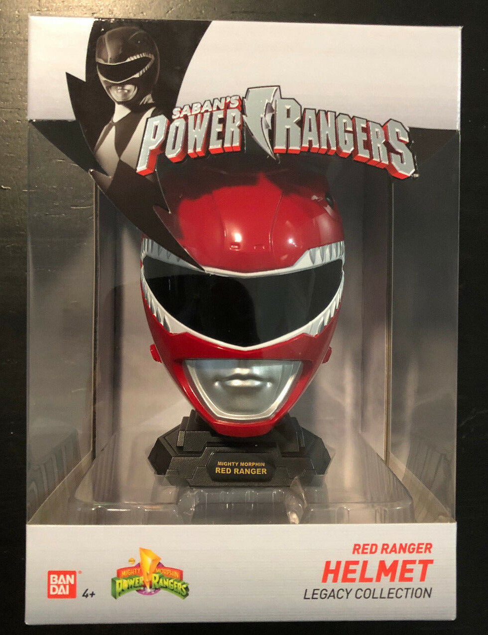 MIGHTY MORPHIN POWER RANGERS LEGACY ROT RANGER HELMET MINI 1:4 JASON MMPR 2018