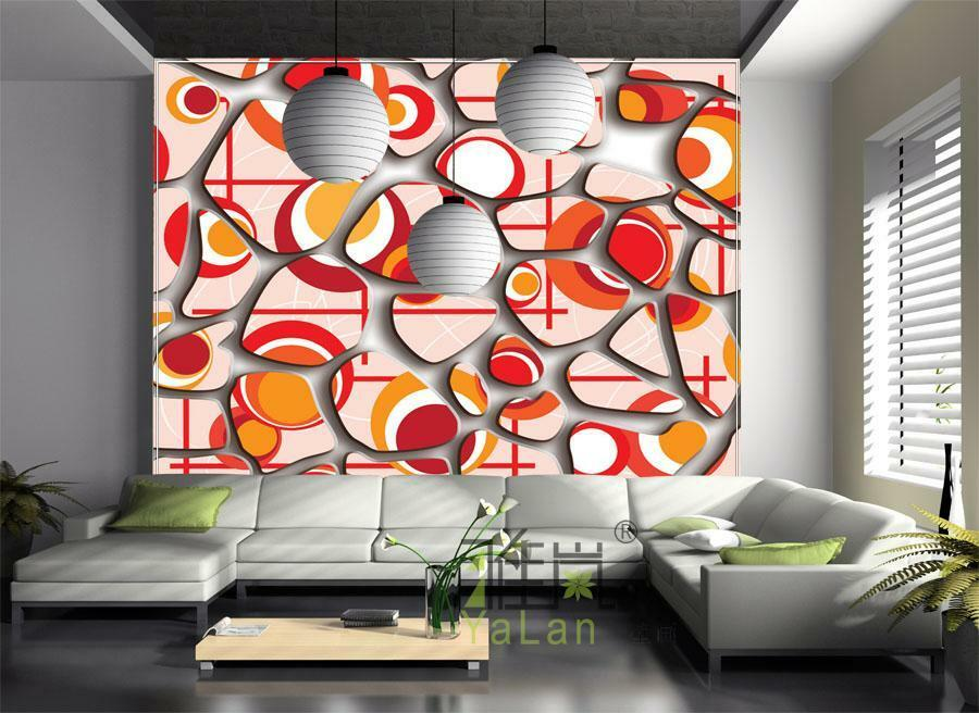 3D Pattern Orange 817 WallPaper Murals Wall Print Decal Wall Deco AJ WALLPAPER