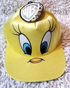 Looney Tunes WB Tweety Bird Yellow Satin Hat Snapback One Size ... 19efffbc288a