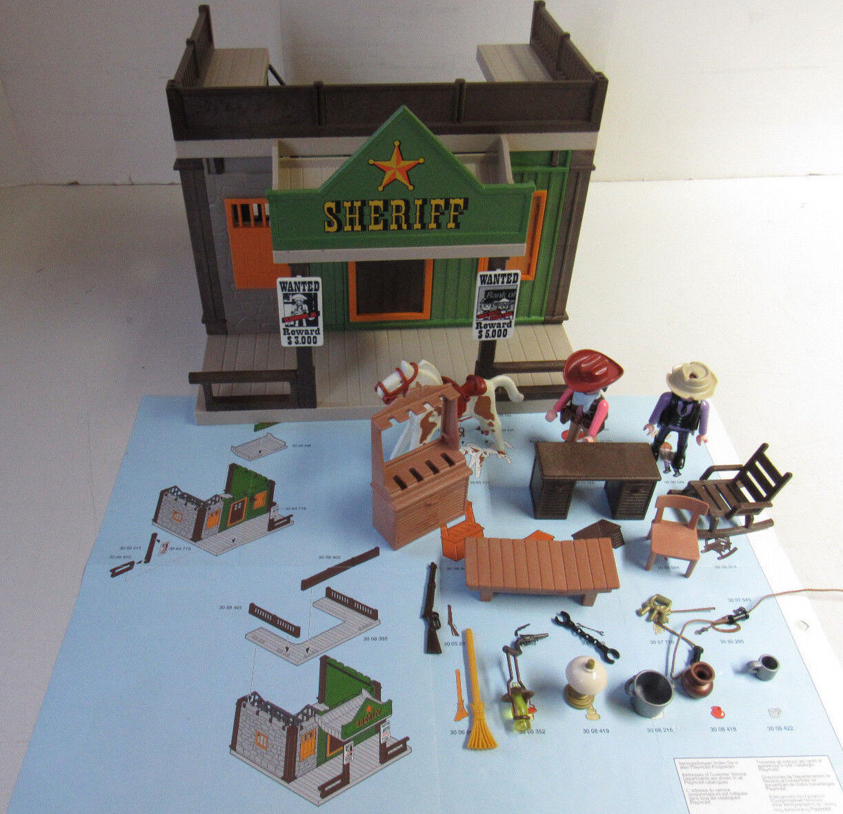 Playmobil© 3786 Sheriff´s Office mit Gefängniszelle KOMPLETT  Western    Qualitätskönigin