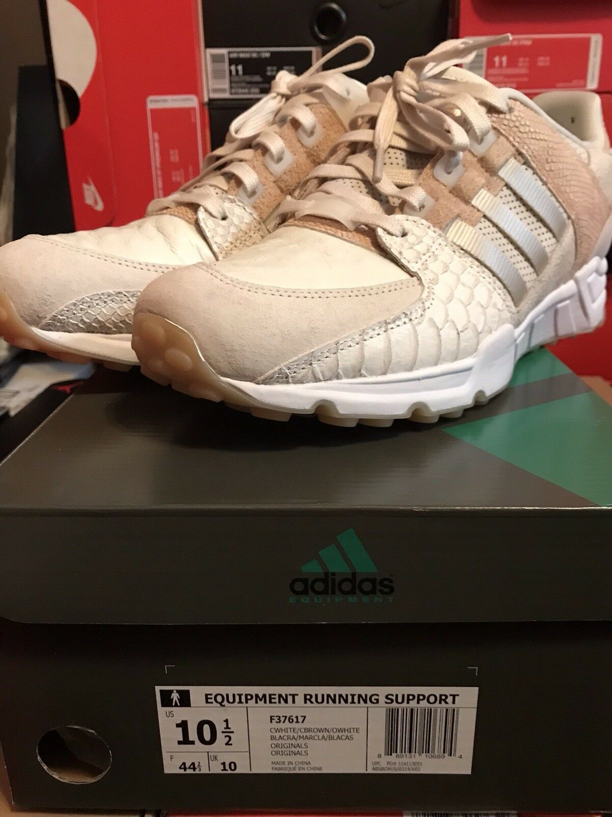 Adidas Equipment Running Support 93 Luxe Oddity F37617 White Tan Mens Size 11