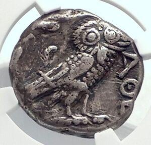 ATHENS-Attica-Greece-393BC-Athenian-Silver-Tetradrachm-Greek-Coin-OWL-NGC-i77385