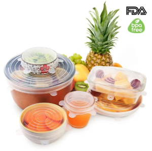 EcoInnova™ 6 Pack Stretch /& Seal Silicone Lids