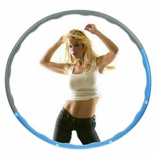 8 Teile Hula Hoop 1.2KG Reifen Fitness Schaumstoff Bauchtrainer Fitnesstraining!